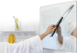 Чтобы зеркало в ванной не потело