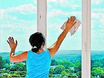 чистые оконные стекла