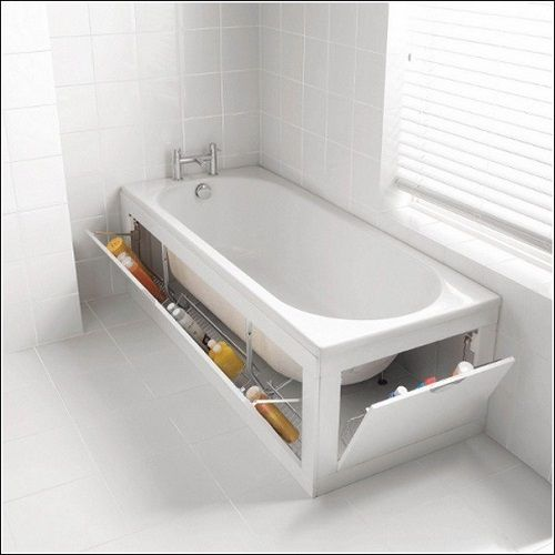 место под ванной в дизайне интерьера ванной