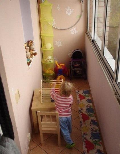 балкон для малышей