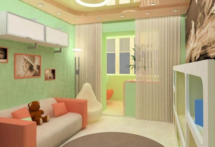 Дизайн балкона как детский комната