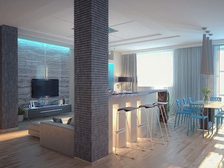 колонна в комнате