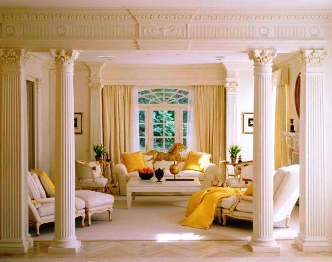 Колонны в гостиной фото