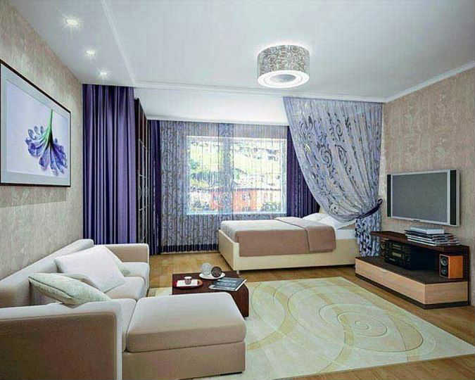 Шторы для однокомнатной квартиры