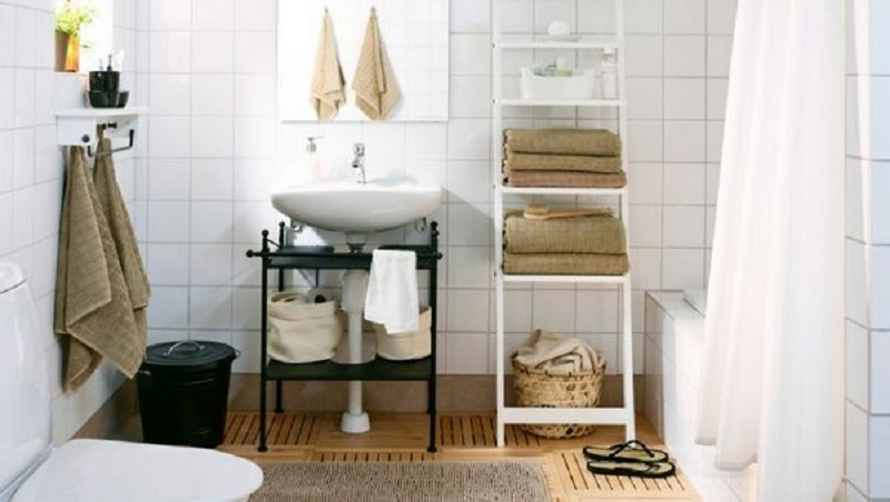 порядок в ванной комнате