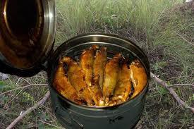 приспособление для горячего копчения рыбы