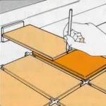 разметка крайнего ряда плитки