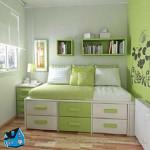 маленькая спальня с окнами на запад