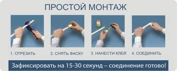 монтаж труб ПВХ