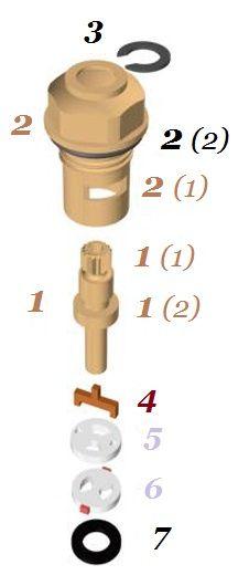 устройство кран буксы с керамическими пластинами