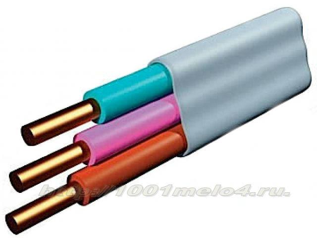 Электрический установочный провод трехжильный