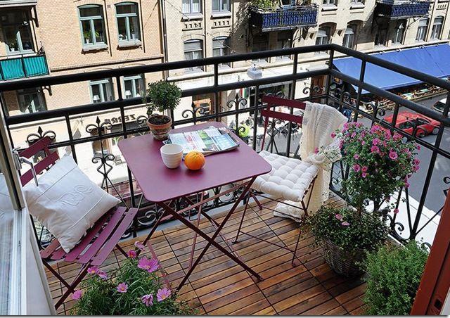 складная и легкая мебель для балкона