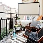 открытый балкон для отдыха