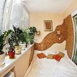 дизайн спальной на лоджии