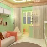 детская комната совмещенная с лоджией