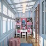 дизайн балкона для детской