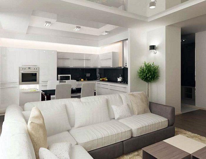 зонирование диваном