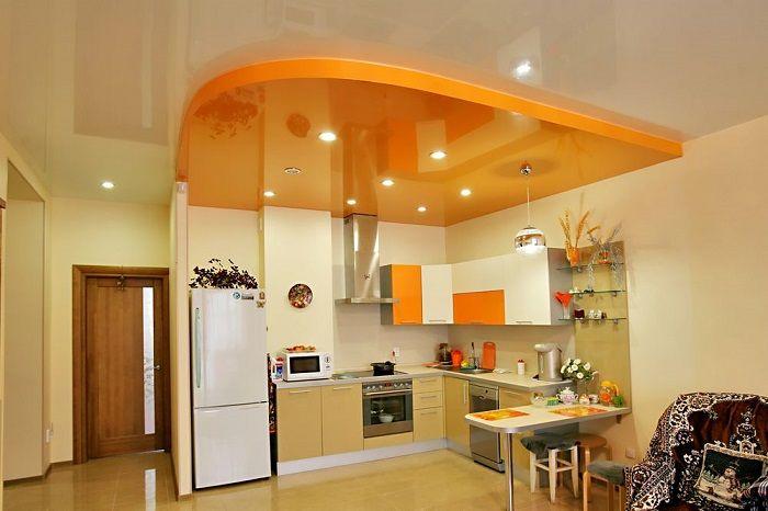разноуровневые потолки и цвет в зонировании