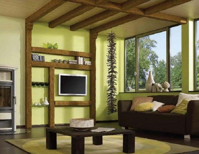 декоративные потолочные балки - конструкции для зонирования