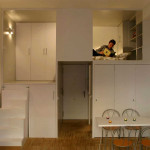 вертикальное зонирование мебелью